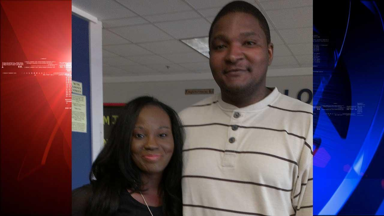 Marie Adeoti is here today because of her bone marrow donor, Allen Horton