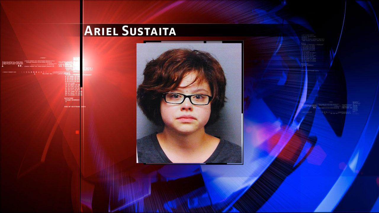Ariel Sustaita, 21, is charged with felony theft