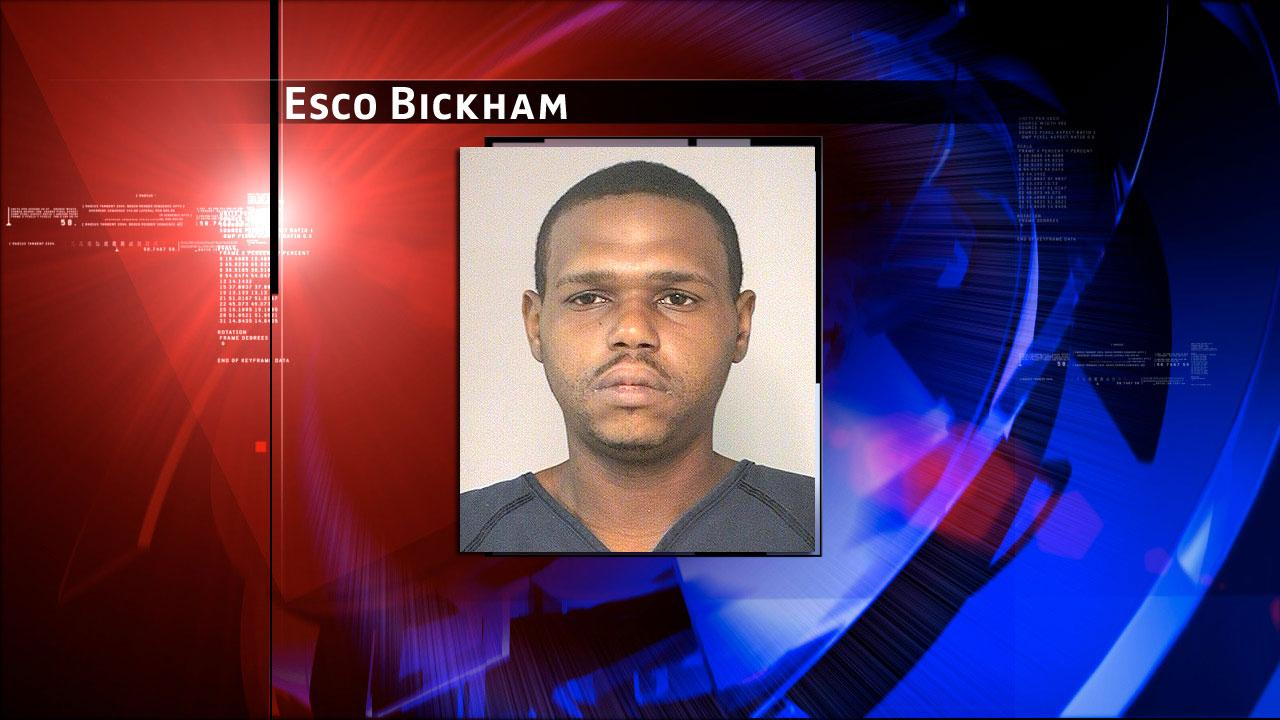 Esco Bickham has been charged with theft, exploitation of a child, unlawful use of a criminal instrumnet and possession of a controlled substance