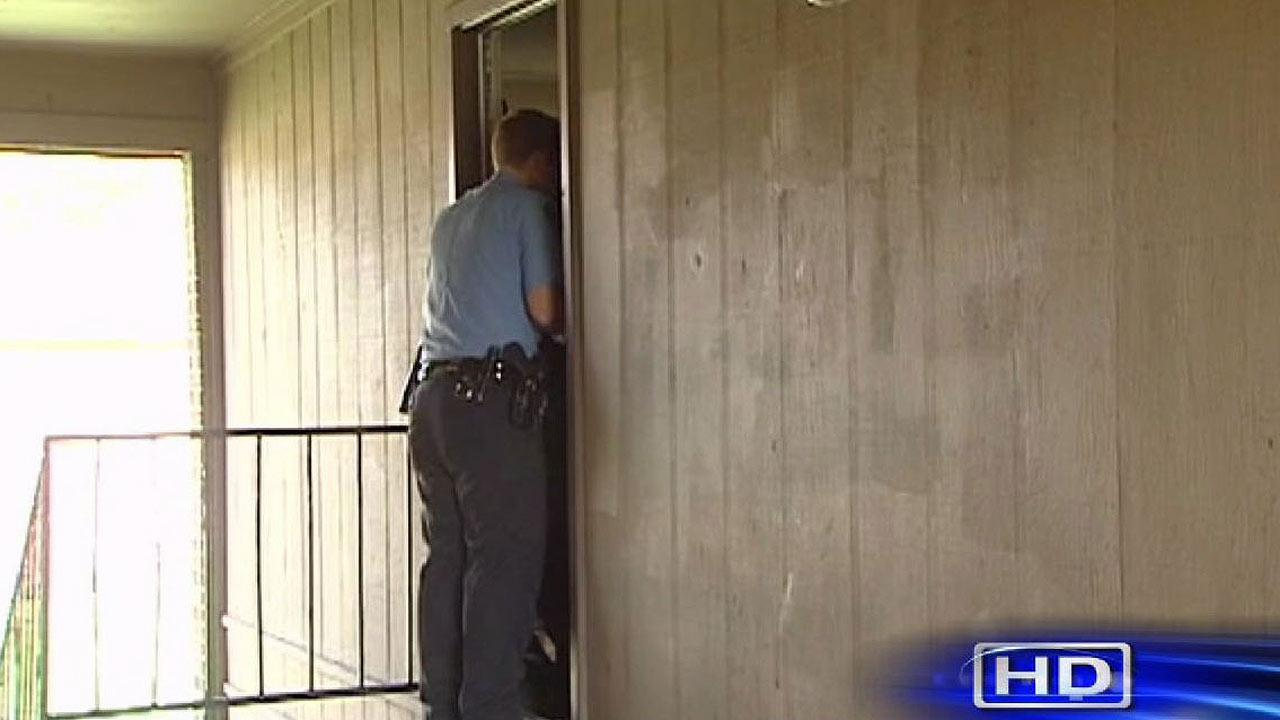 Infant left alone on apartment stairway in north Houston
