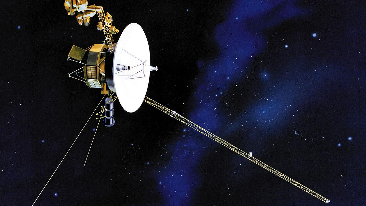 This undated file artists rendering shows one of NASAs twin Voyager spacecraft.