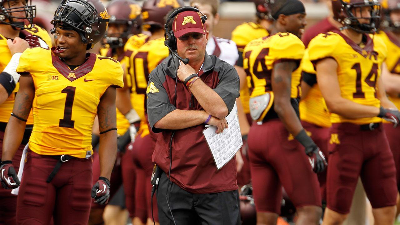 Minnesota head coach Jerry Kill