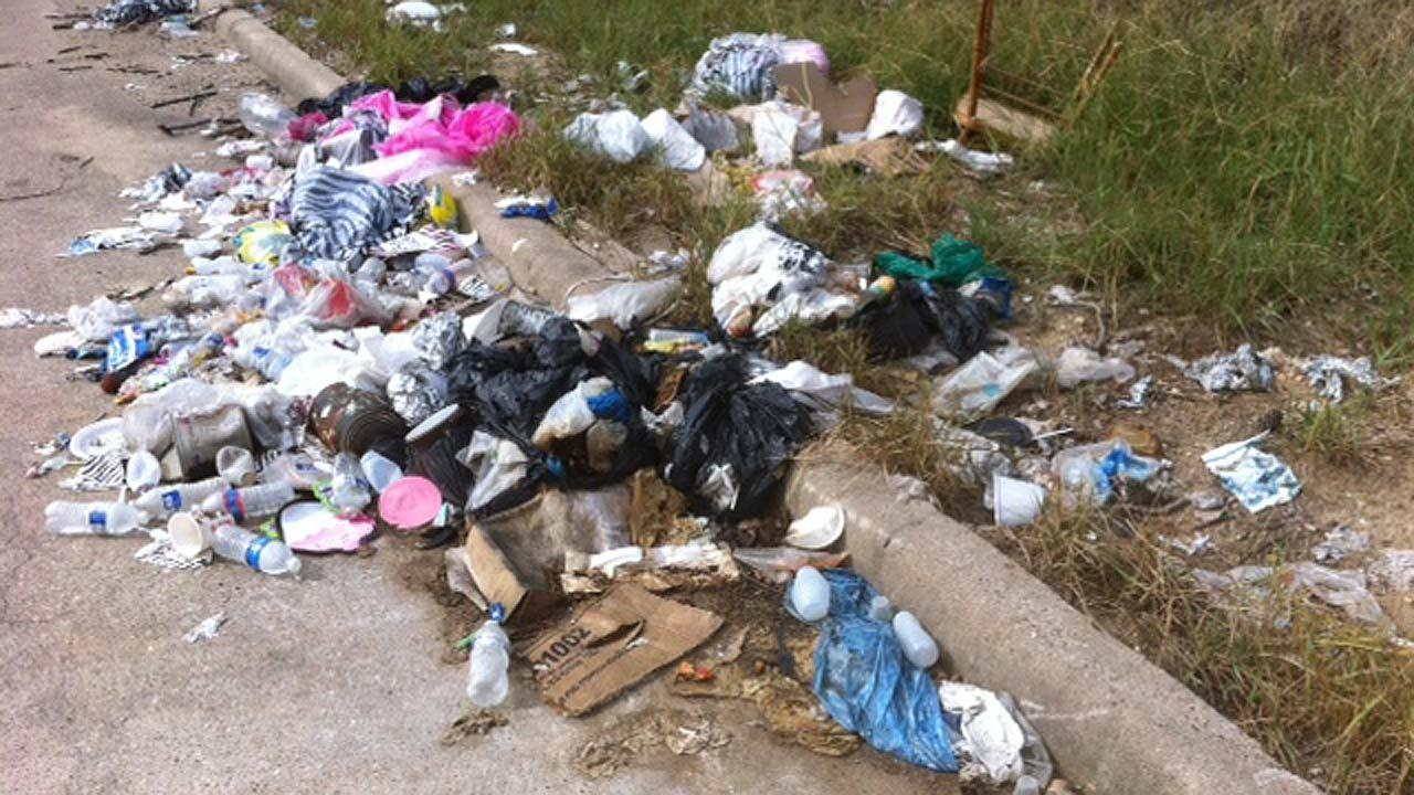 Illegally dumped garbage