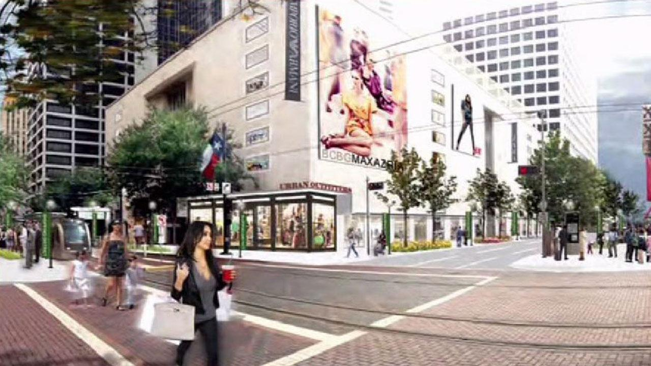Downtown Houston retail shopping district planned