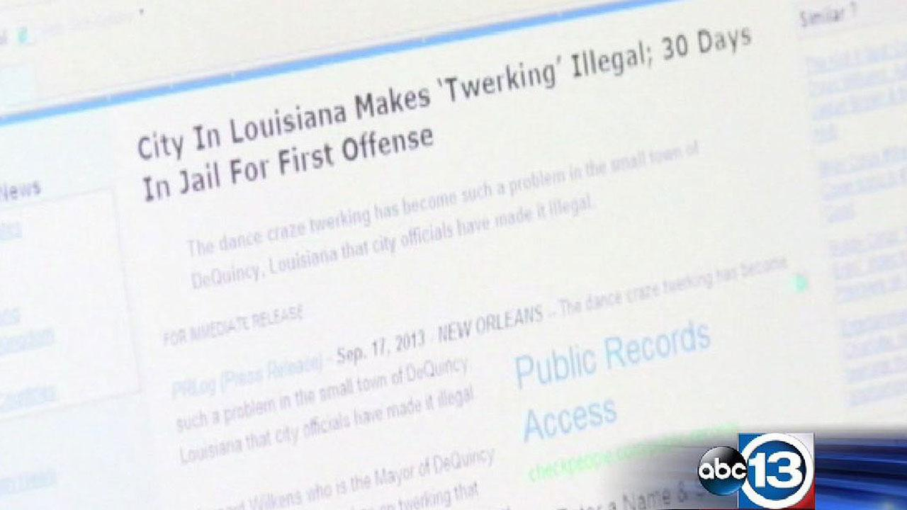 When a satirical website reported the small city of DeQuincy, La., had banned twerking, some local residents thought it might be true.