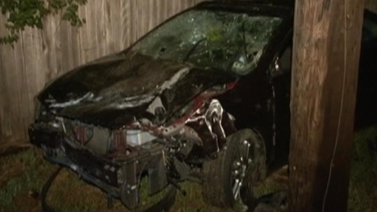 Suspected drunk driving wreck