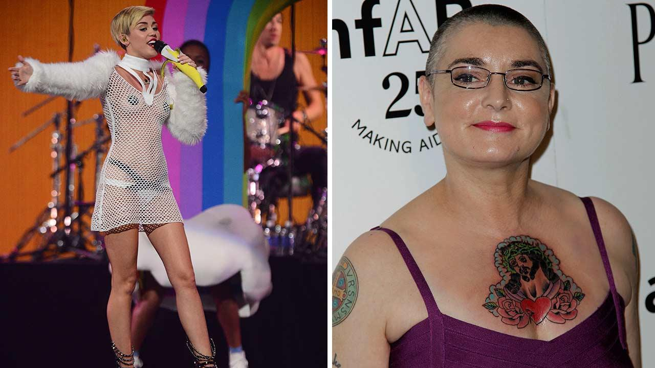 Miley Cyrus and Sinead OConnor