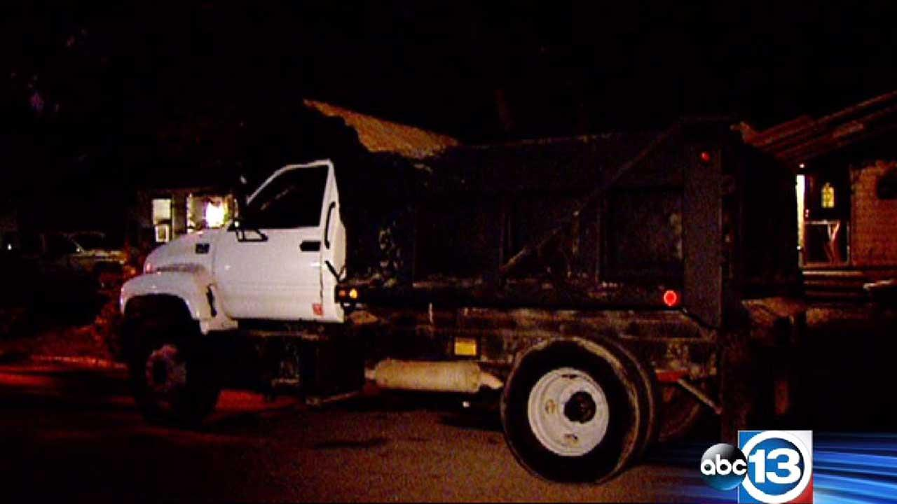 A dump truck driver was taken into custody after leading police on a chase.