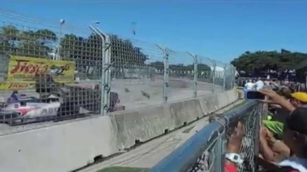 Crash at Grand Prix of Houston sends fence debris flying into crowd, 15 injured