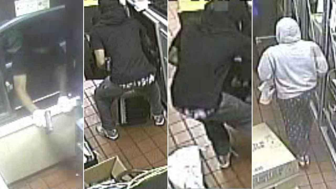 Surveillance images from reckless McDonalds robbery in The Woodlands