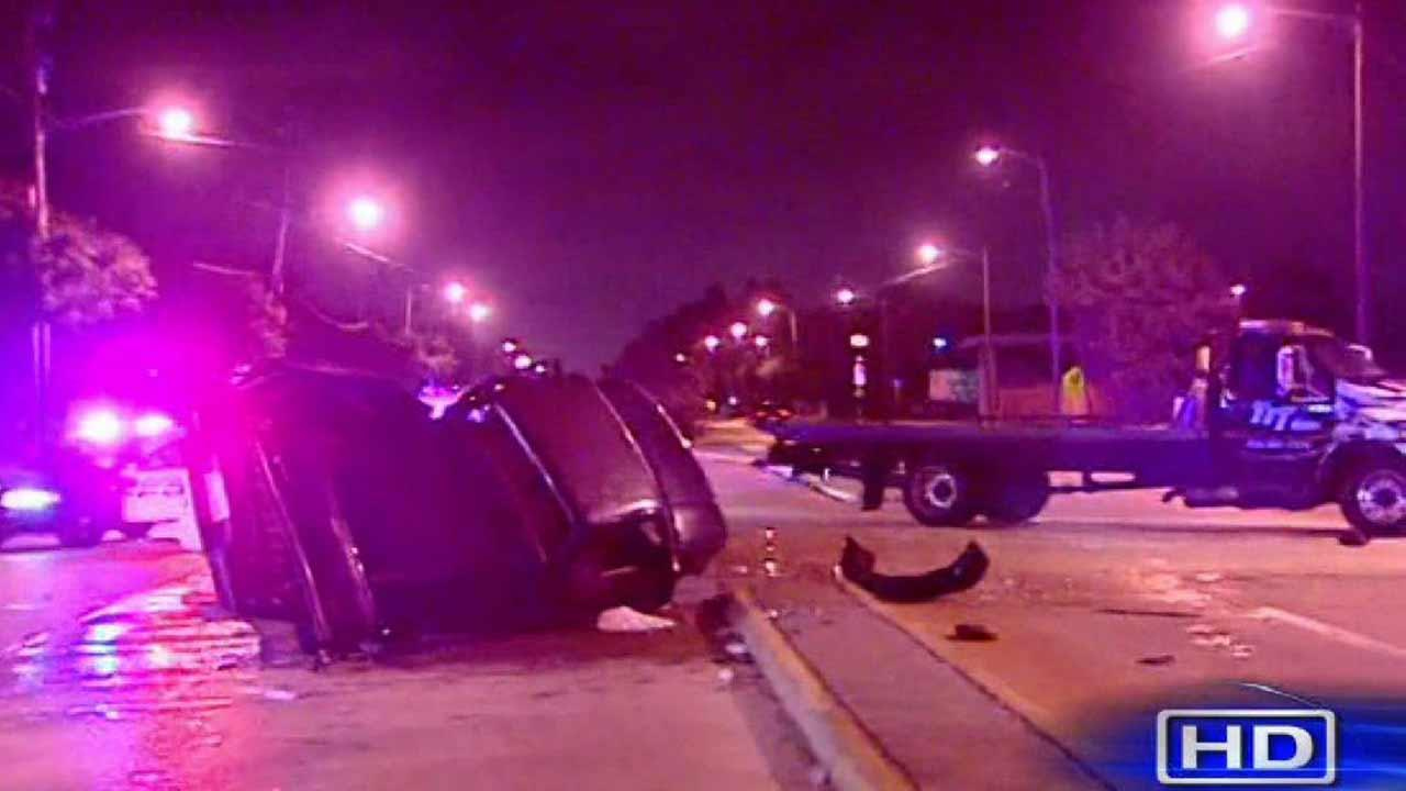 Four people are in the hospital this morning after a two-vehicle crash in northeast Houston.