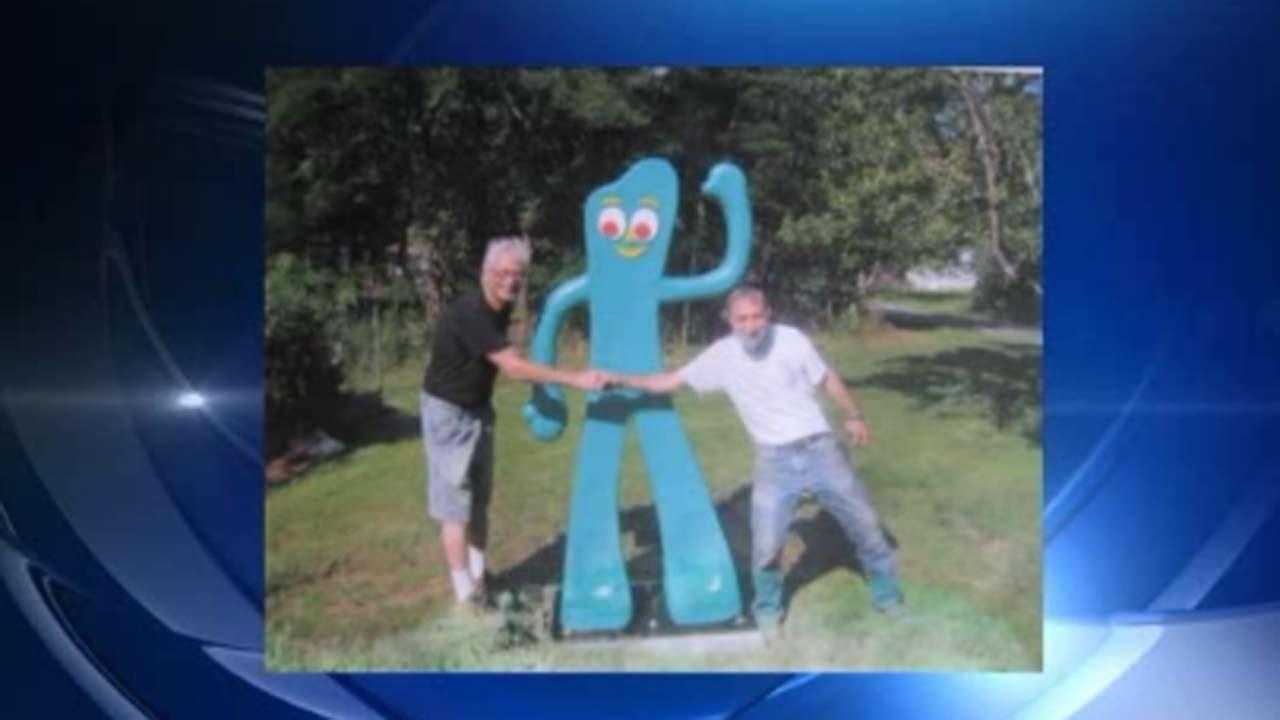 Police search for stolen 7-foot Gumby statue