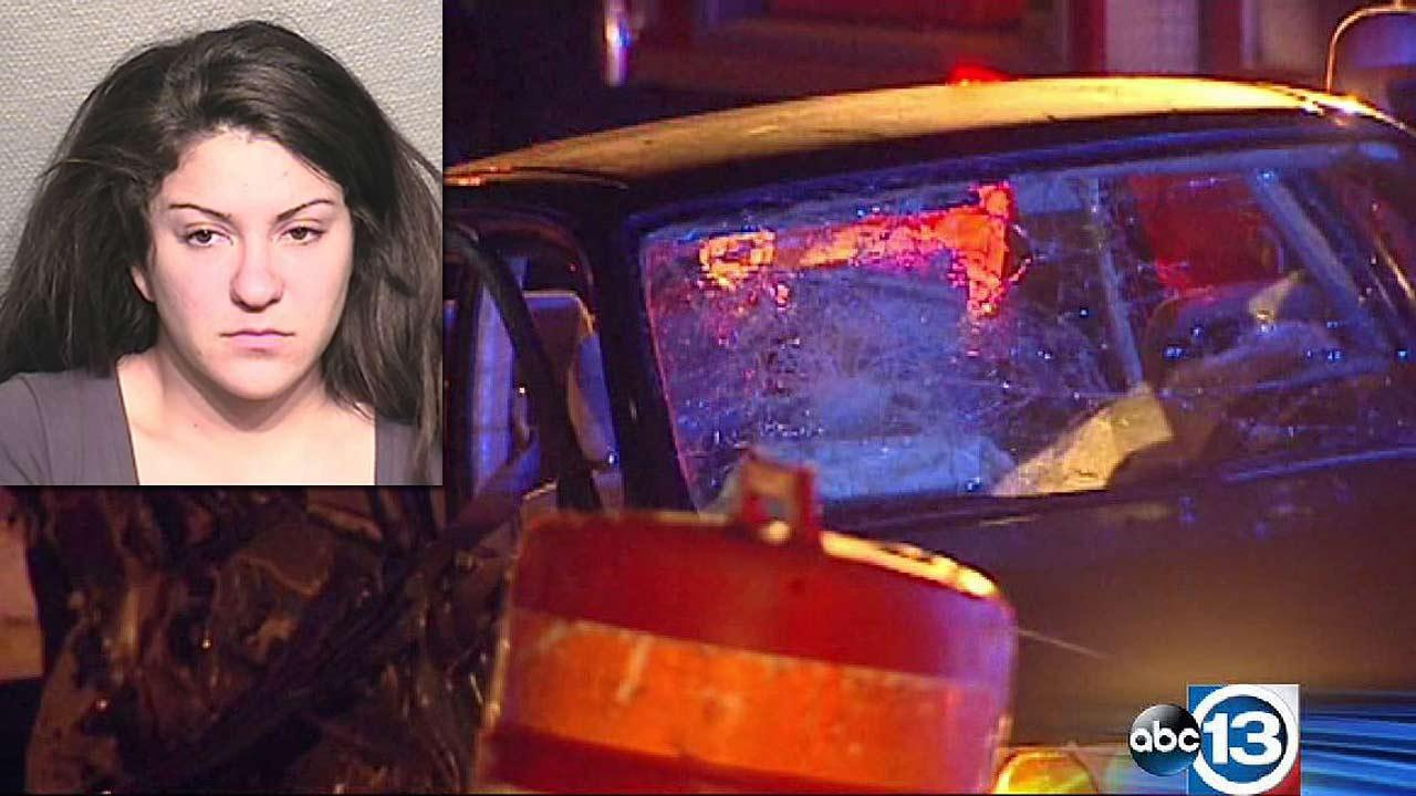 Brittini Kressin, 26, has been charged with intoxication manslaughter after a fatal wrong way wreck on the Katy Freeway