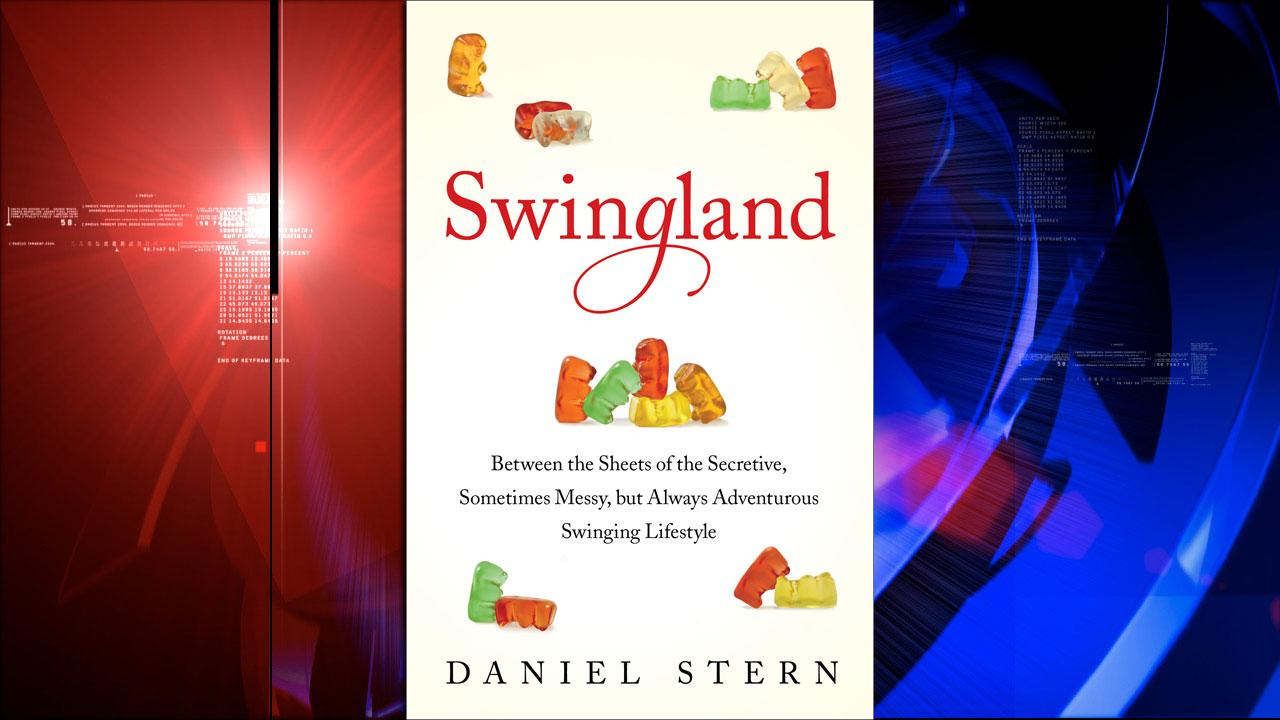 This image provided by Simon and Schuster shows the book cover for Swingland: Between the Sheets of the Secretive, Sometimes Messy, but Always Adventurous Swinging Lifestyle by Daniel Stern. (AP Photo/Simon and Schuster)
