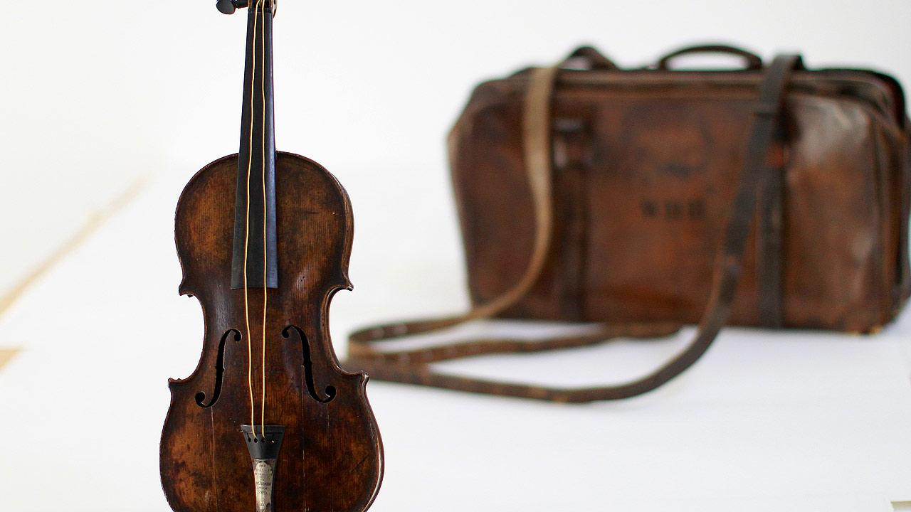 The violin played by bandmaster Wallace Hartley during Titanics tragic maiden voyage