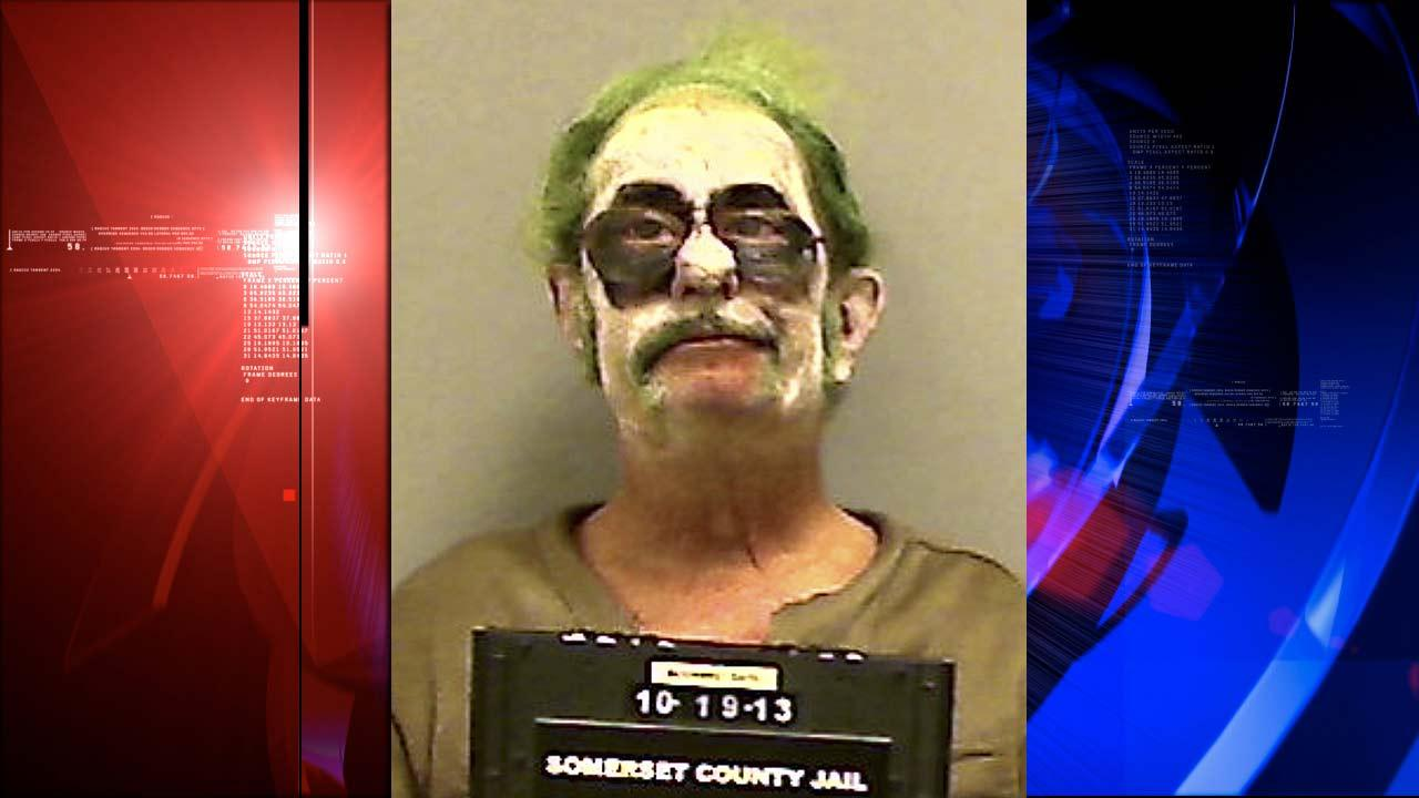 Dennis Lalime, arrested Sunday, Oct. 20, 2013, when returning from a Halloween party made up as The Joker