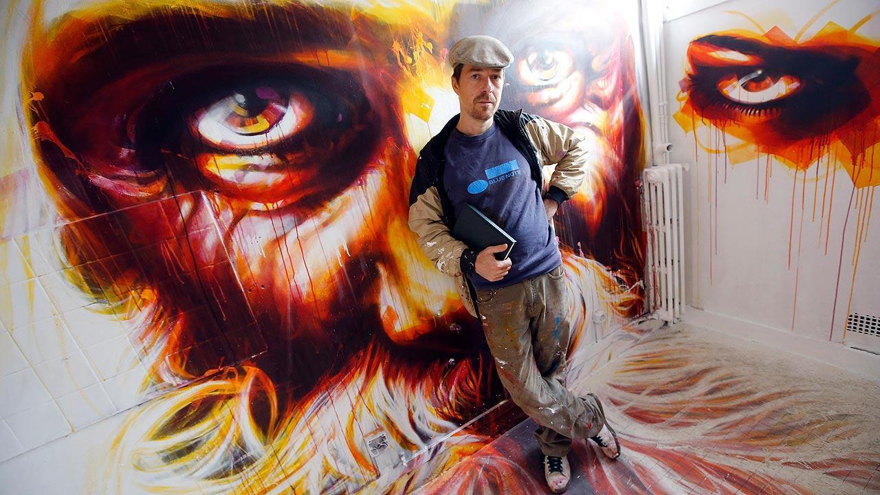 Graffiti at condemned building in Paris