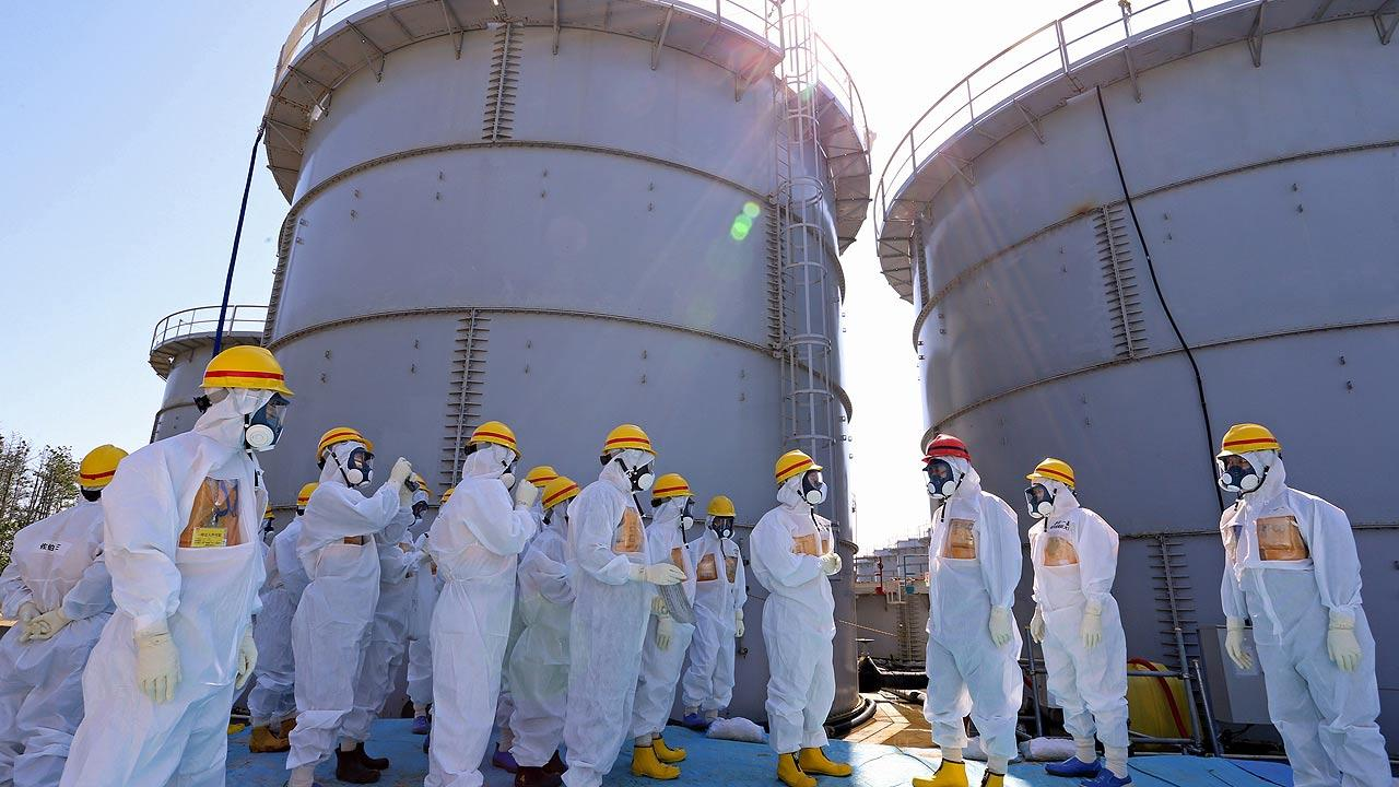 Tsunami-crippled plant in Okuma, Fukushima Prefecture