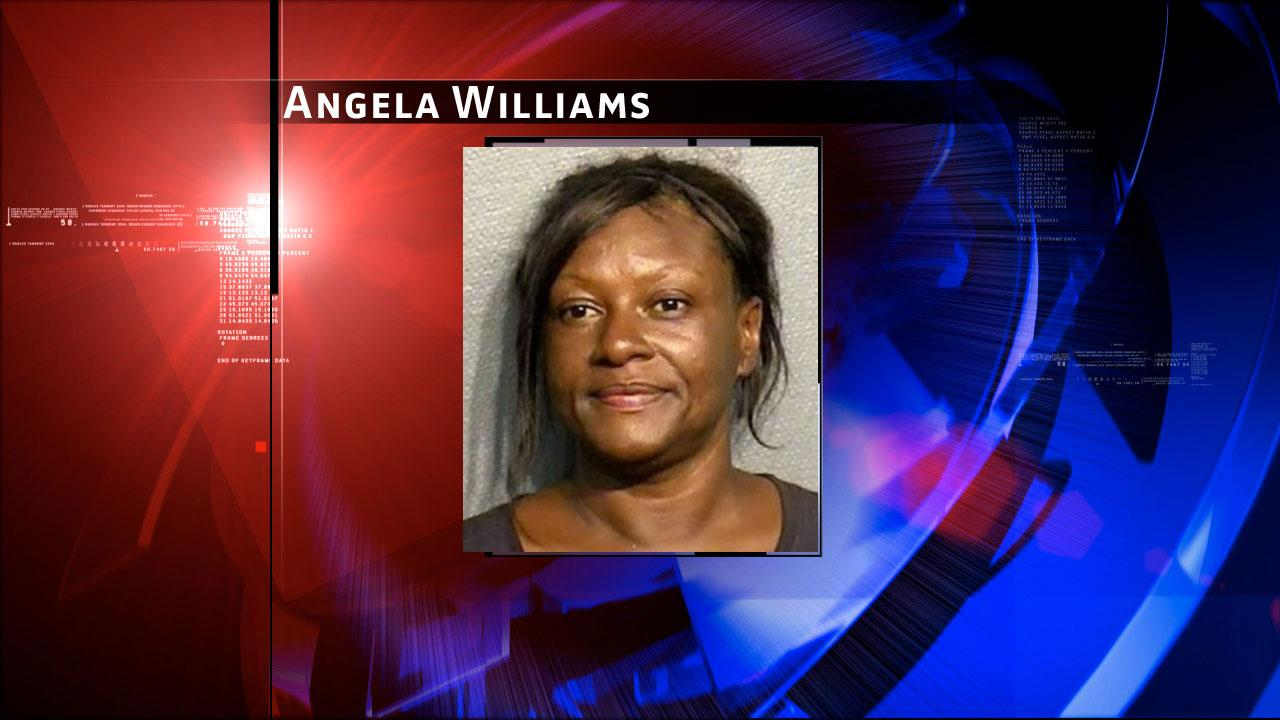 Angela Williams is accused of stabbing a man in the back
