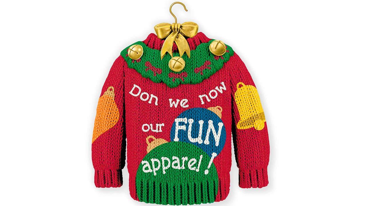 Hallmark ugly sweater ornament
