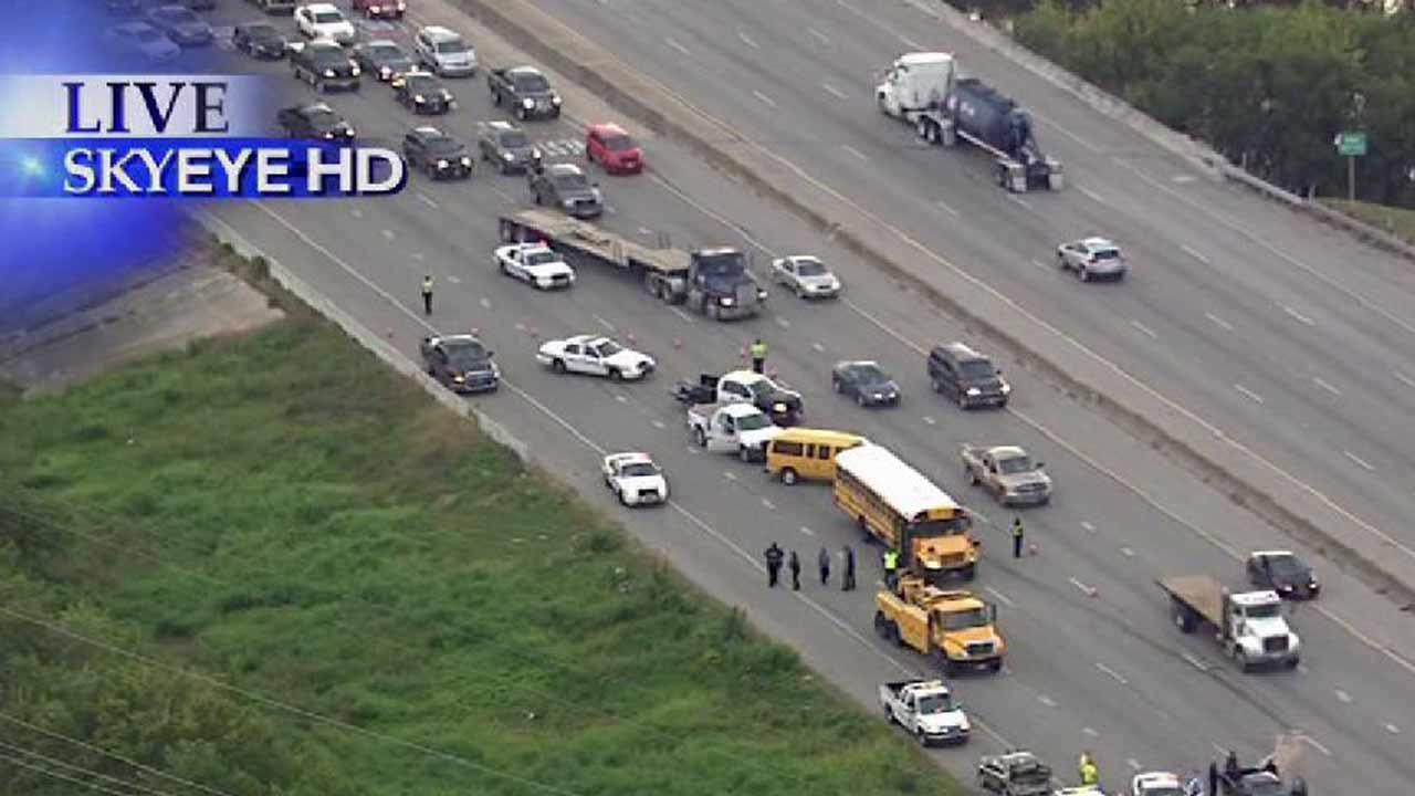 A wreck involving a school bus made for a bumpy start to the school day for kids in southeast Houston.