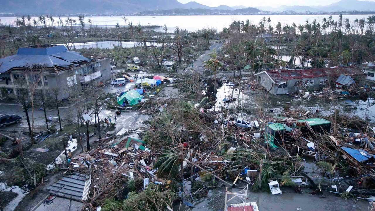 Typhoon damage