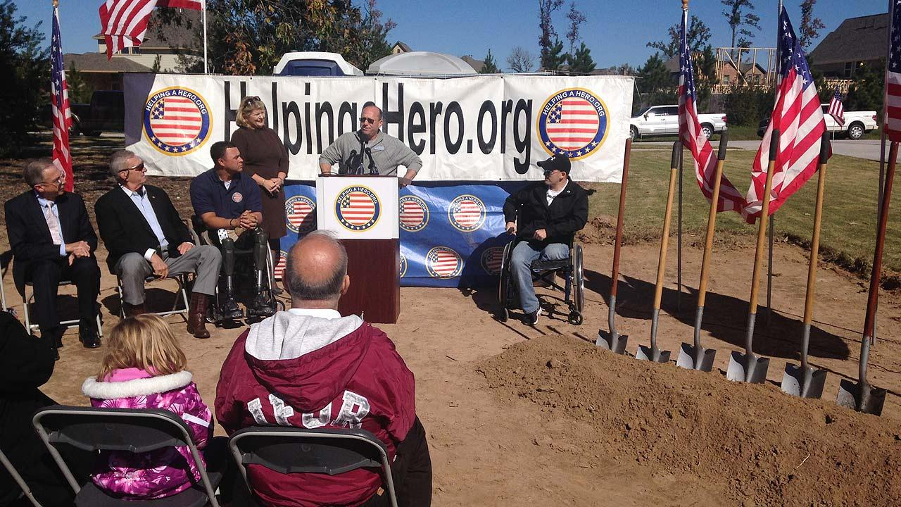 The groundbreaking ceremony as a charity builds a new home for Captain Will Lyles signifies a new chapter in his life, after an IED explosion in Iraq left him a double amputee