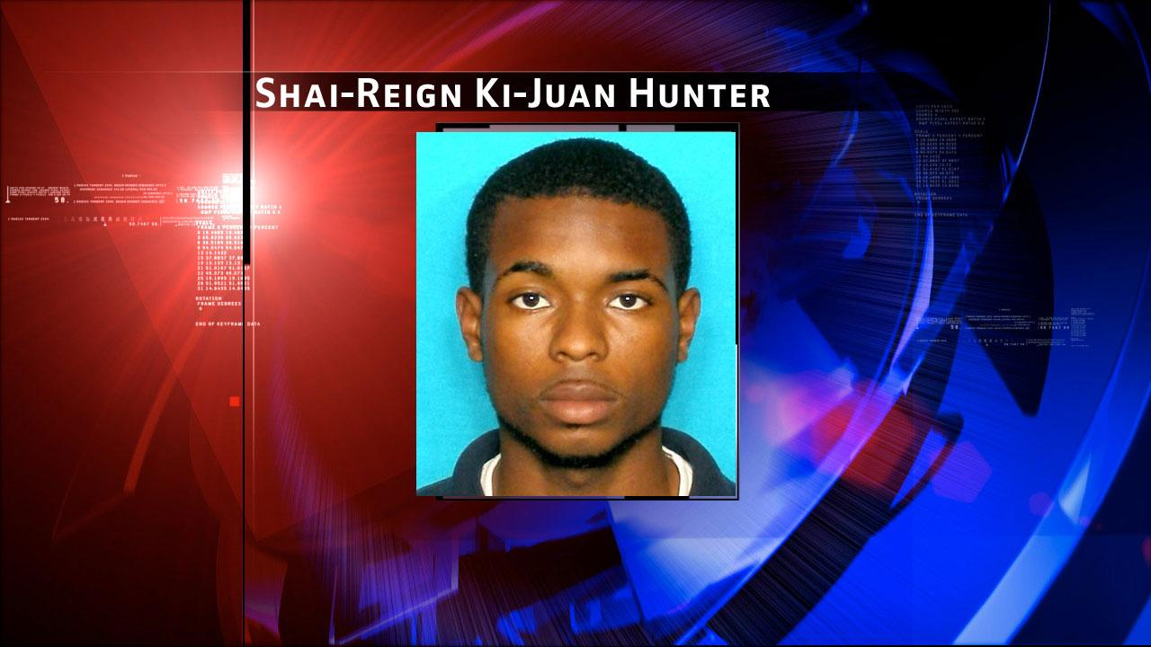 Shai-Reign Ki-Juan Hunter, 19, is wanted for aggravated assault with a deadly weapon