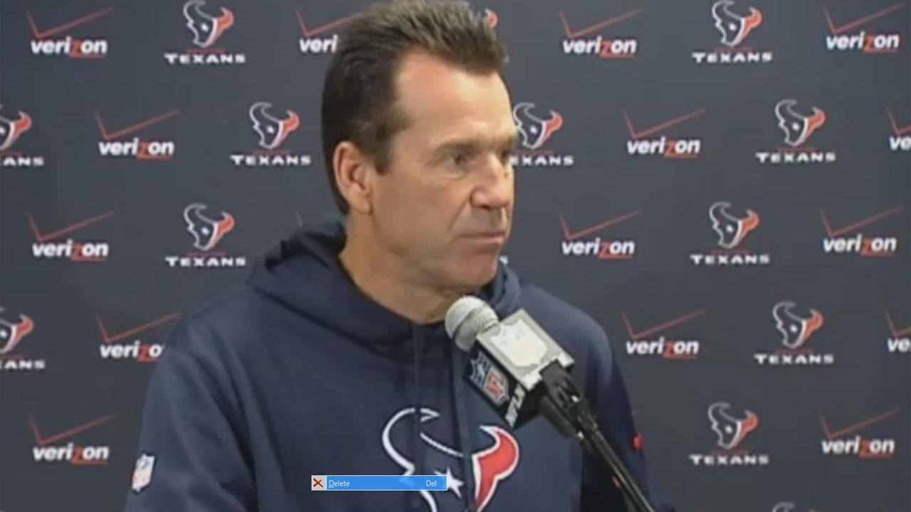 No sidelines for Texans Coach Gary Kubiak this weekend