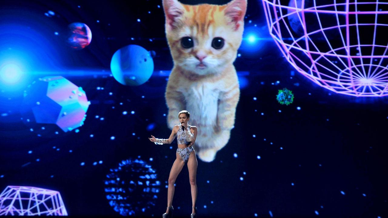 Wrecking ball cat, Miley Cyrus