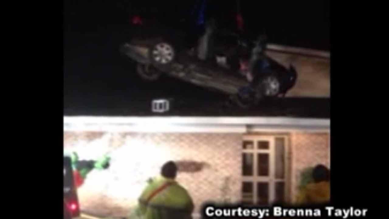 Car crashes onto roof of South Carolina home as family sleeps inside