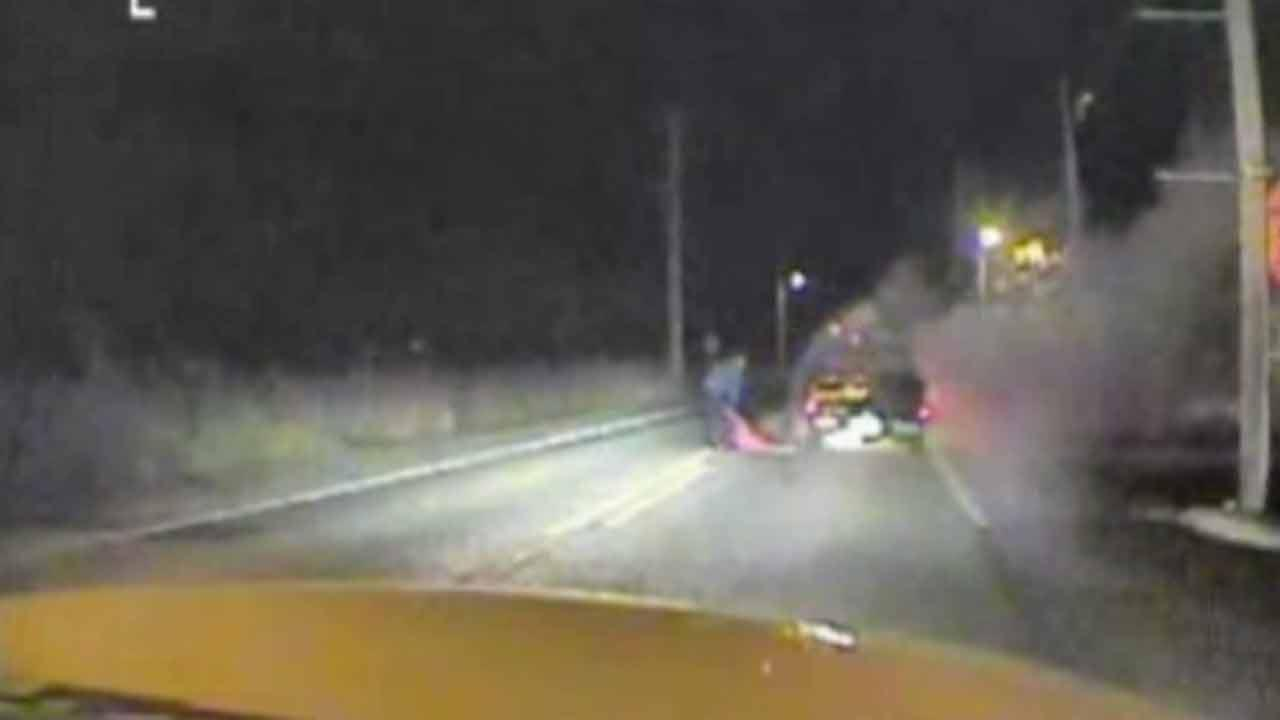 Dramatic rescue captured on camera on NJ highway