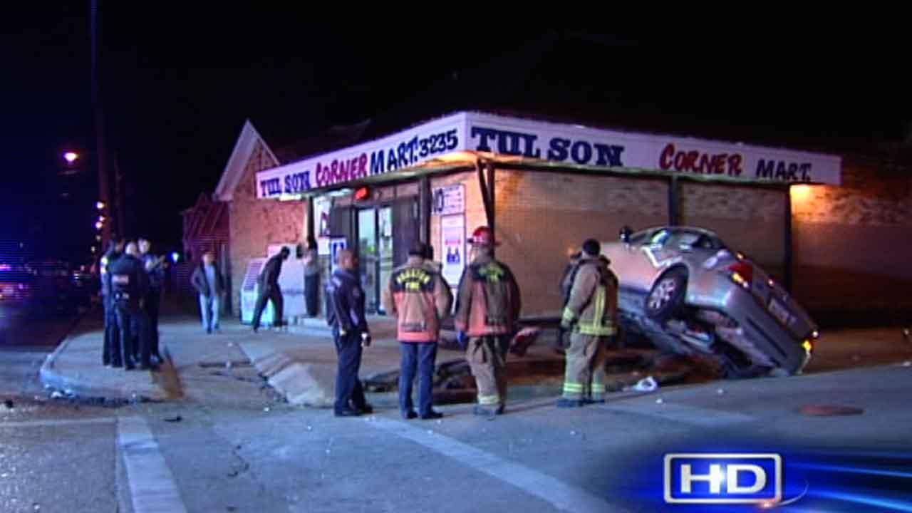 Police say several people were hospitalized and one person may have fled after this crash south of downtown Houston