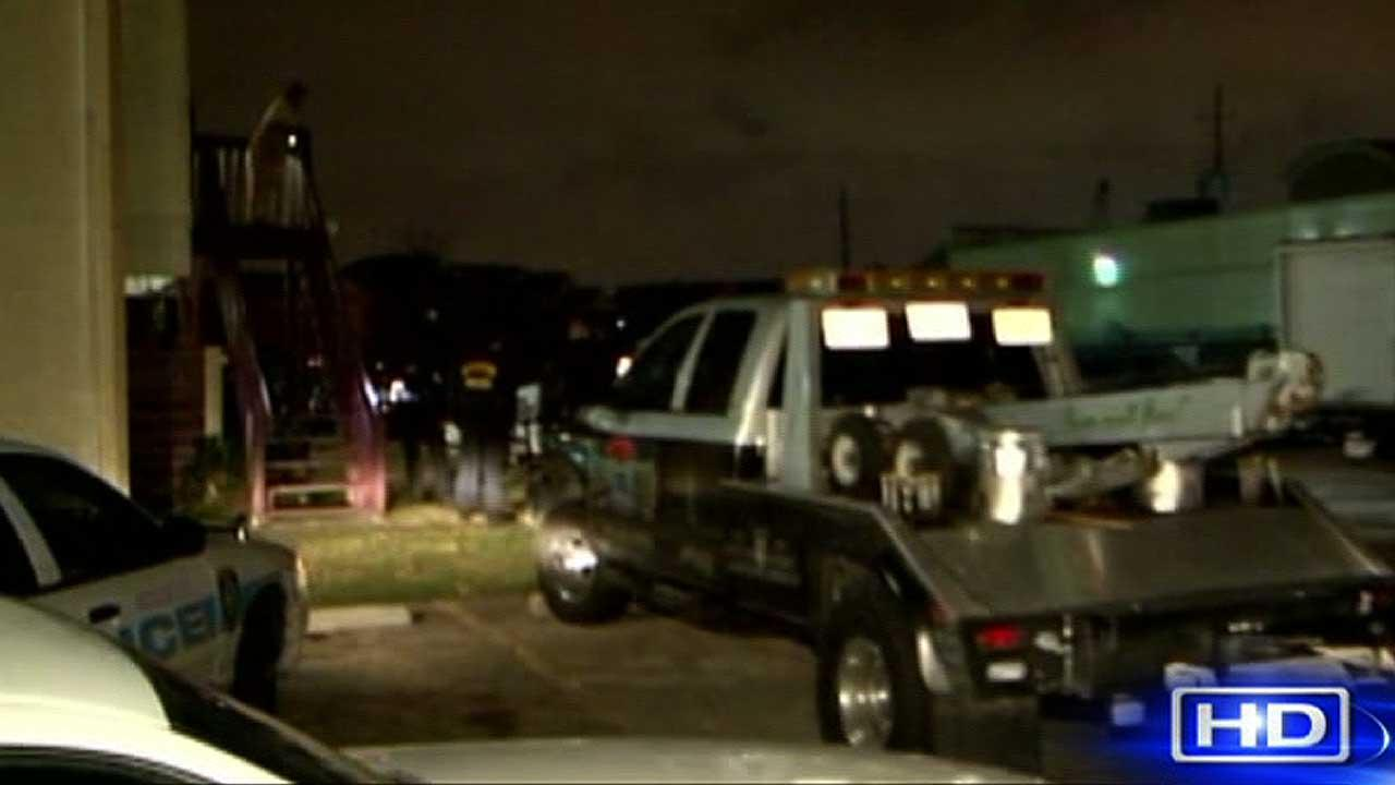 Police say a wrecker truck driver was shot outside his apartment in northeast Houston