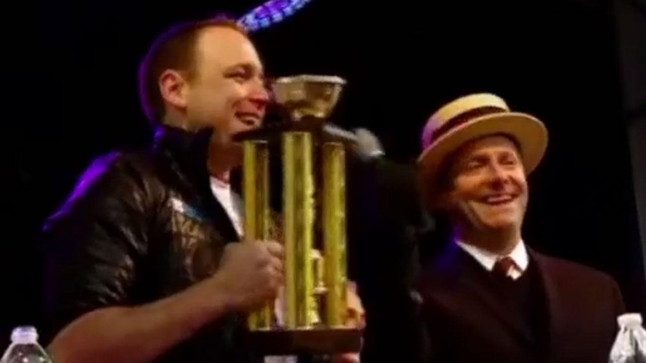 Eating champ Joey Chestnut blows away field in shrimp cocktail eating event