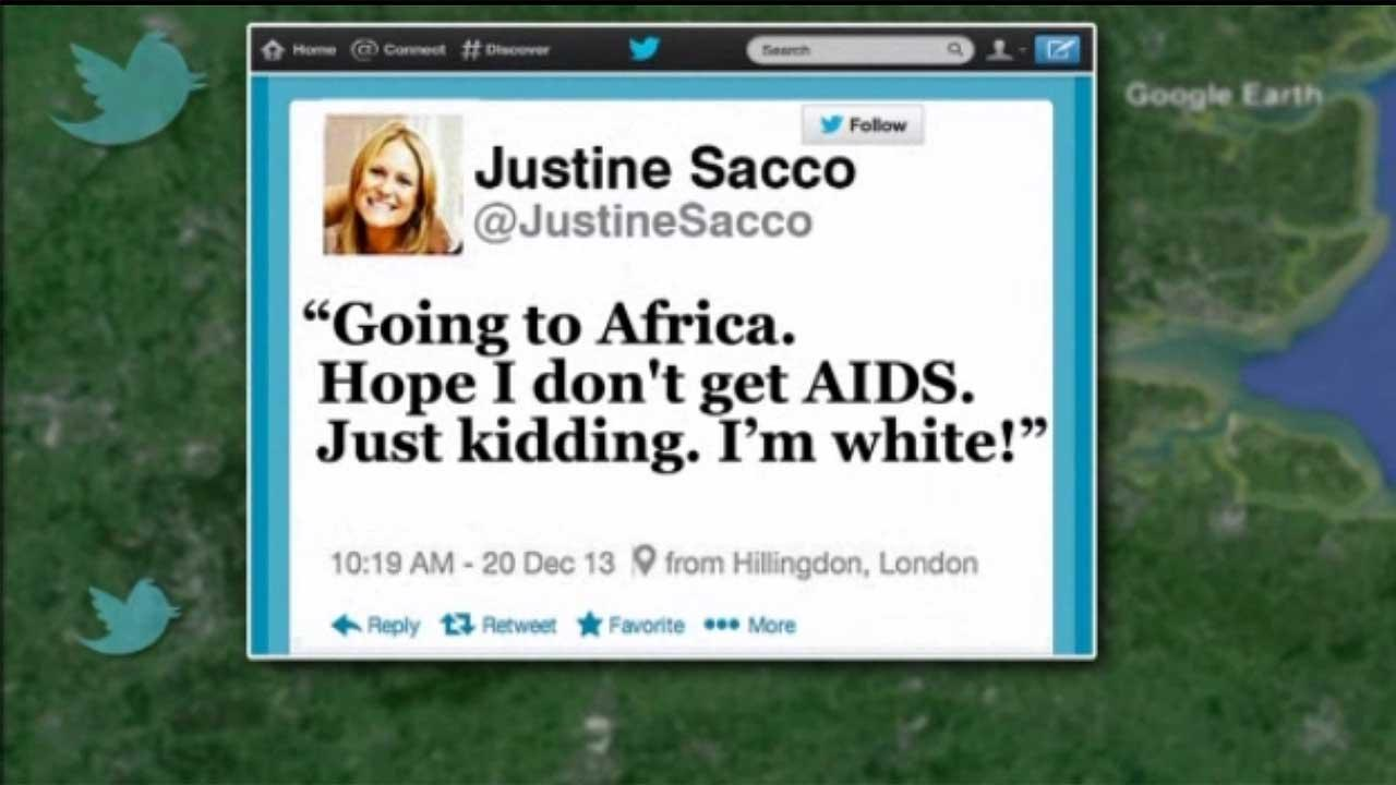 PR executive Justine Sacco apologizes after tweet about AIDS
