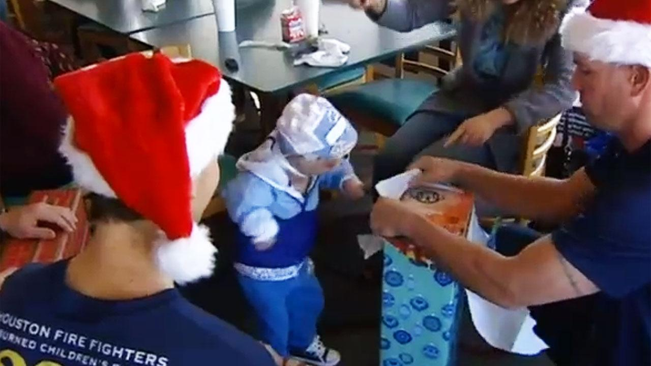 Recovering kids get surprise from Houston firefighters