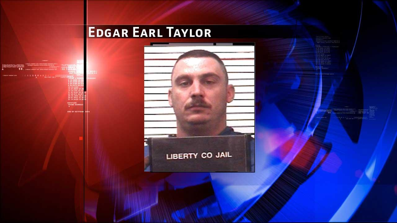 Edgar Earl Taylor, 40, was arrested on Christmas Day after a high-speed chase in Liberty County