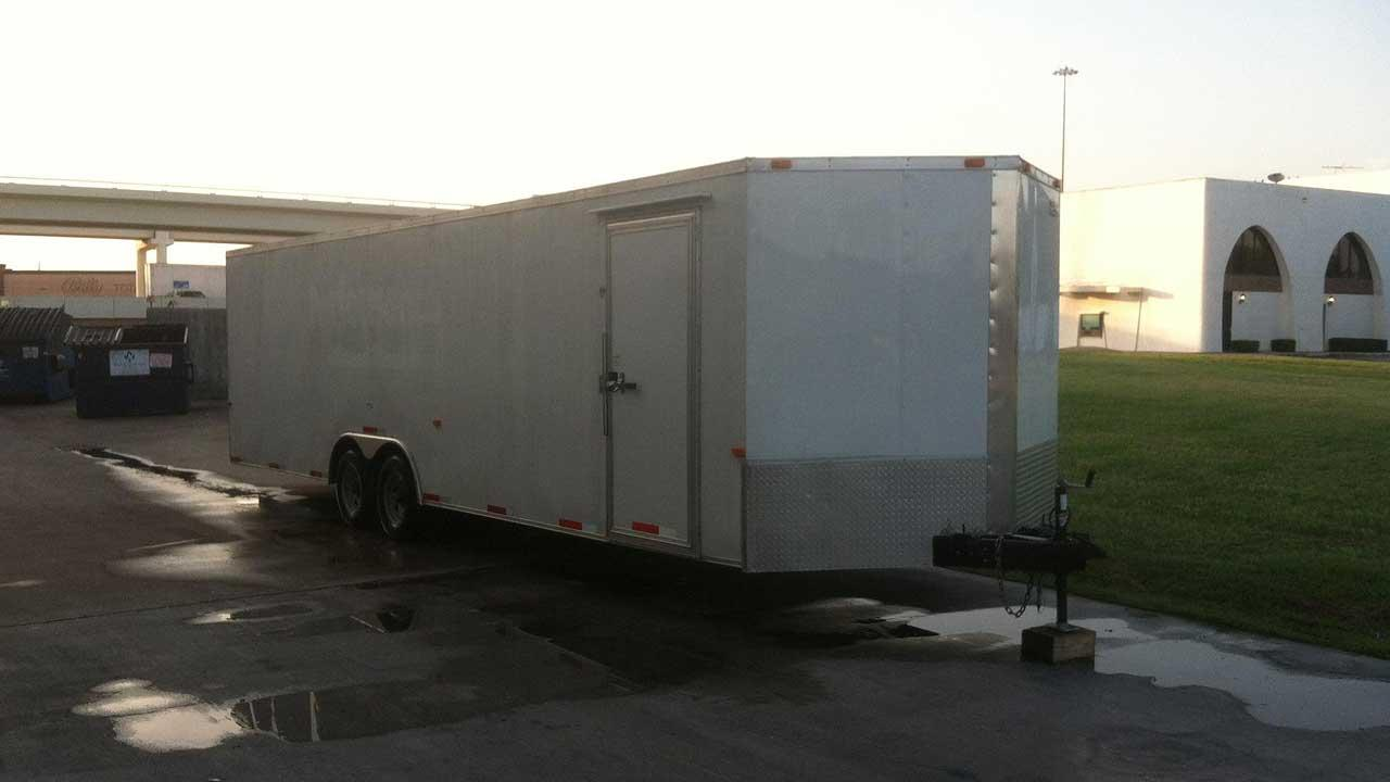 This trailer and everything in it was stolen from a Gulf War veteran, and he is asking for the publics help to get it back