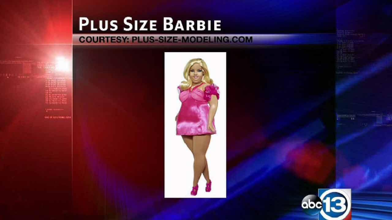 Plus-size Barbie