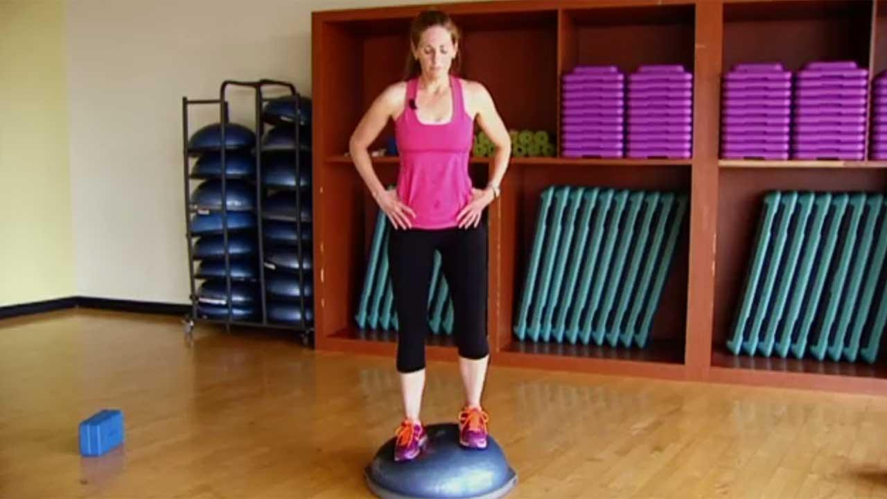 Balance workout for core and lower bod