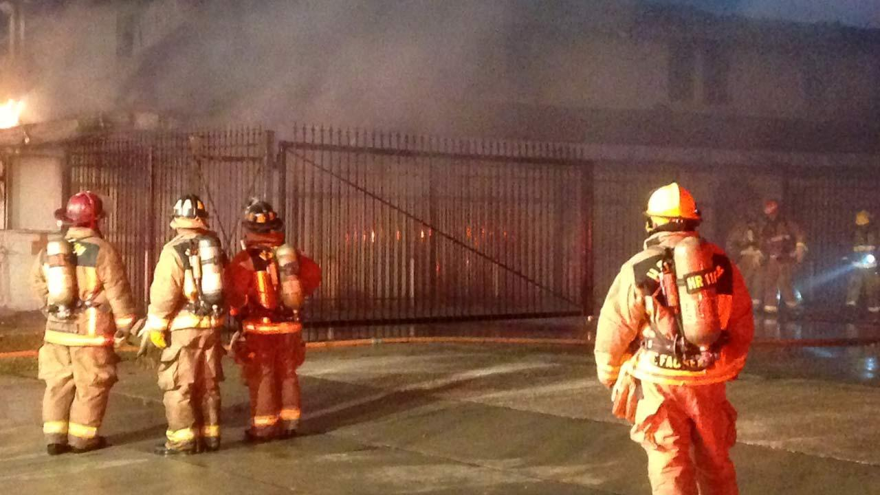 The fire damaged the strip center and two adjacent buildings in southeast Houston