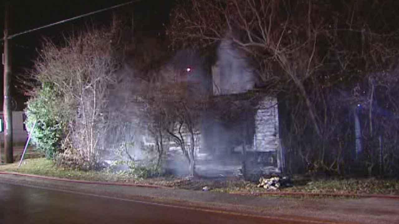 A vacant house on  Fidelity Street in east Houston caught fire. The blaze is under investigation