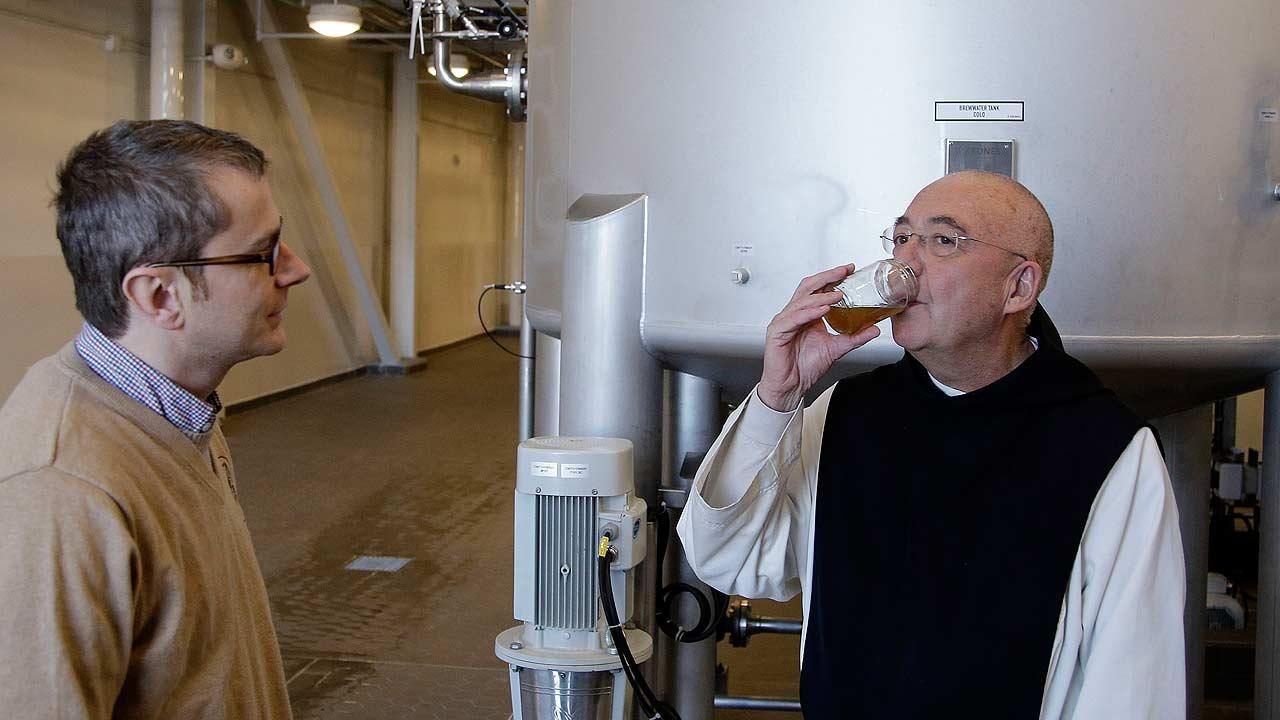 Trappist monk beer