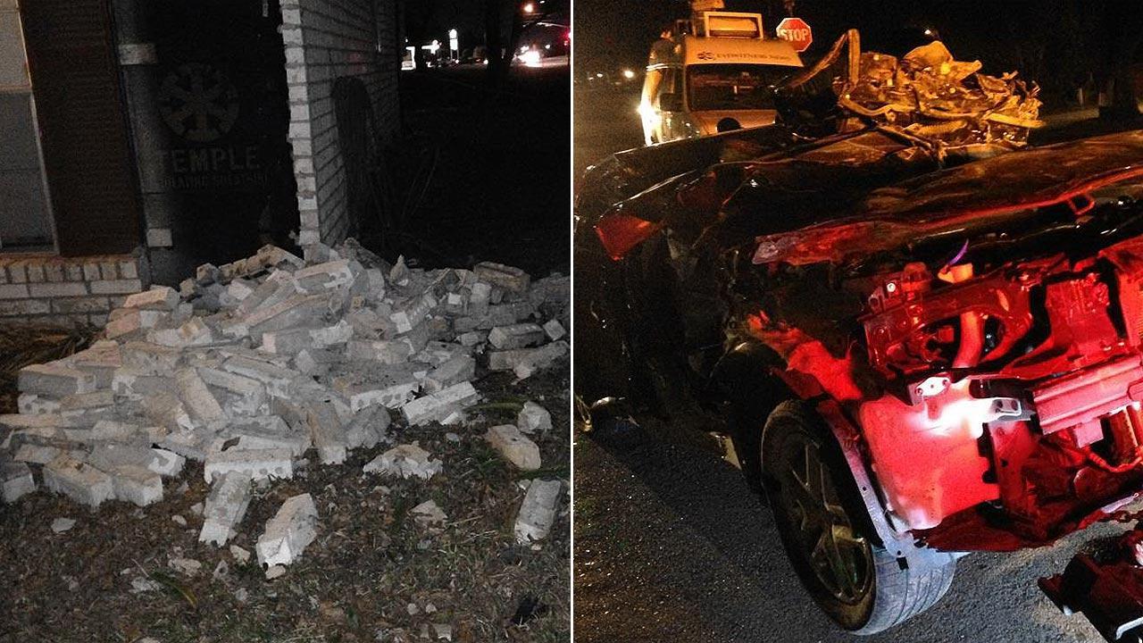Car slams into north Houston home
