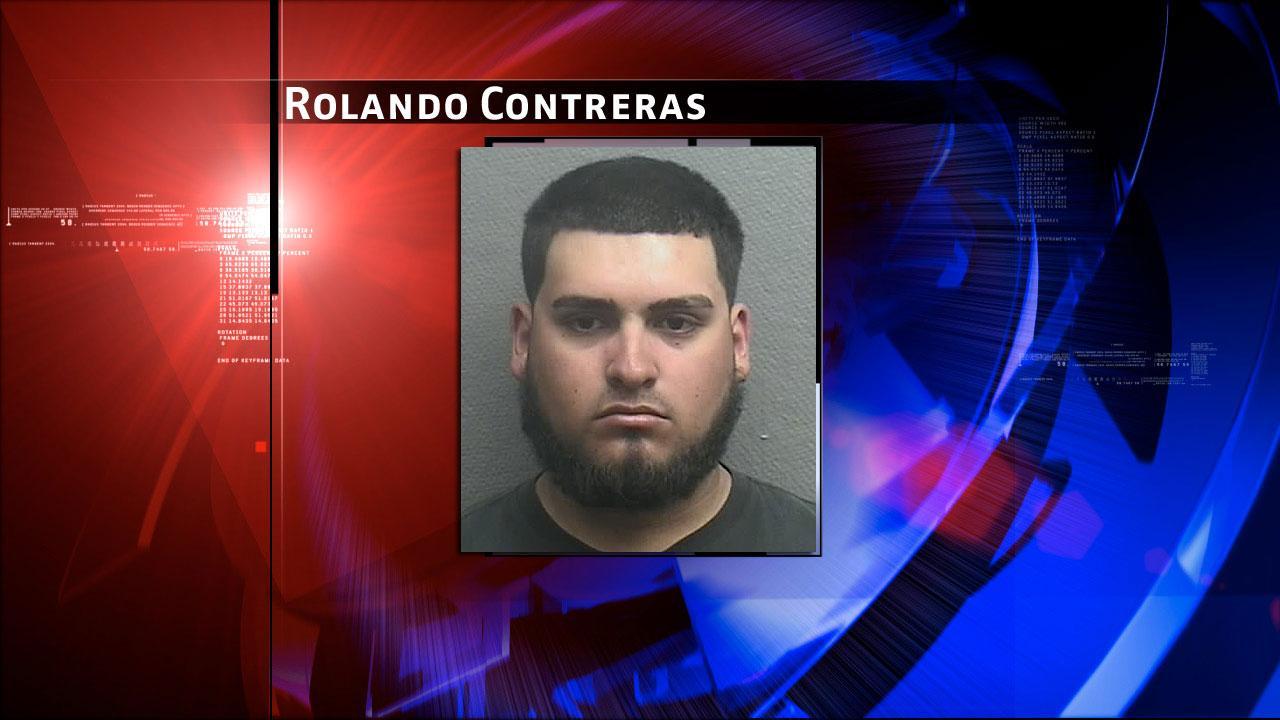 Rolando Rafael Contreras, 19, was charged with improper visual recording