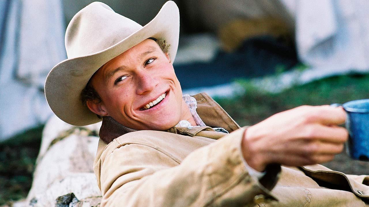 Heath Ledger portrays Ennis Del Mar in a scene from Brokeback Mountain