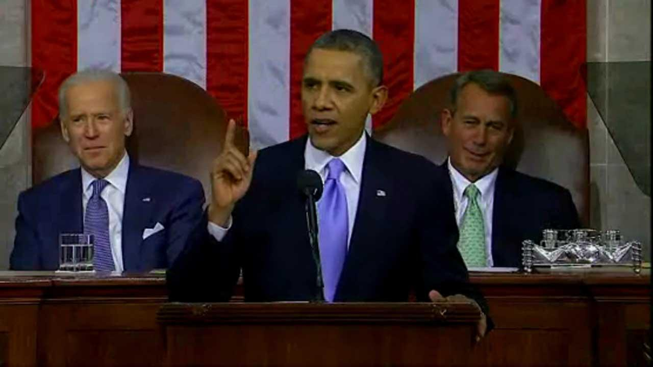 President Barack Obama delivers his fifth State of the Union address