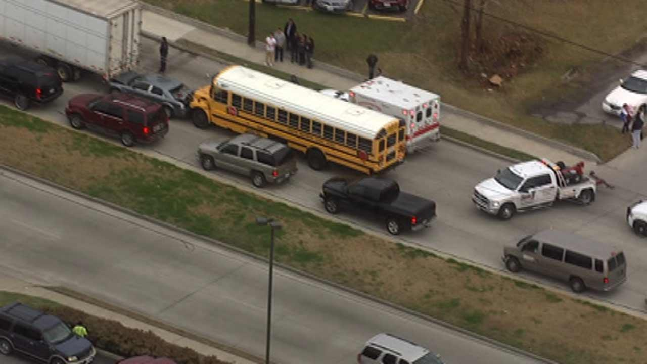 HISD school bus involved in accident in north Houston