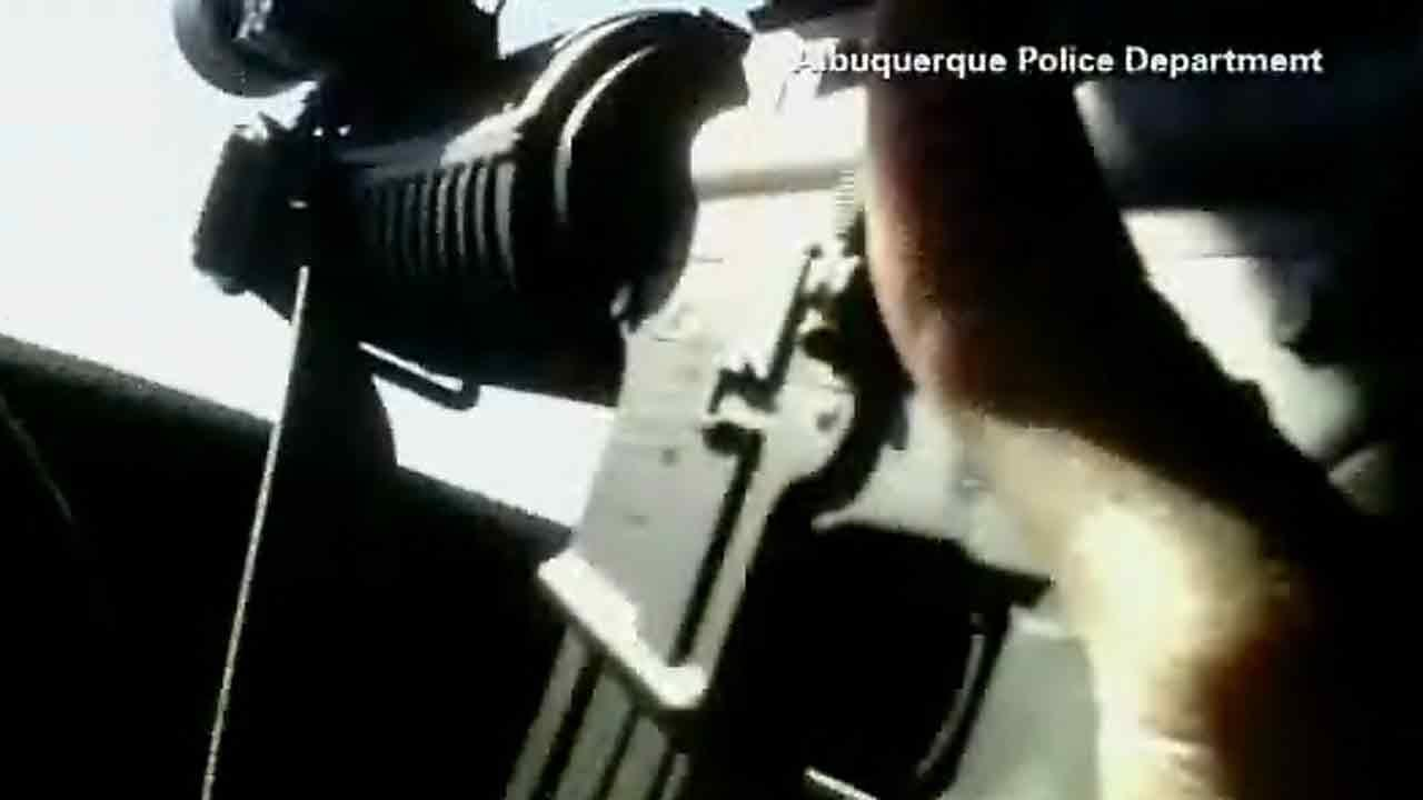 Violent police chase, shootout caught on camera in New Mexico
